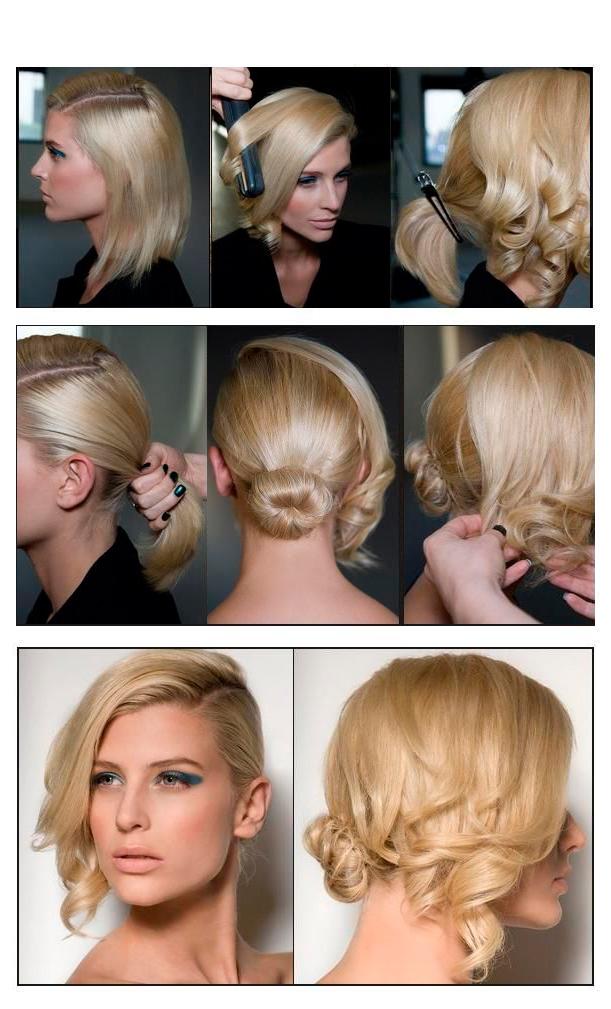 Как сделать прическу для коротких волос фото пошагово