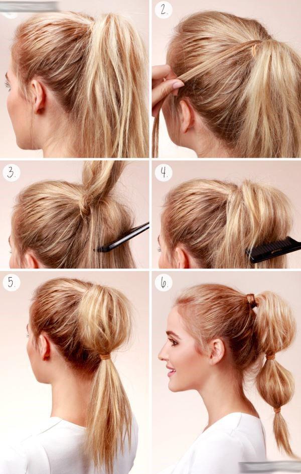 Хвост на средние волосы в домашних условиях
