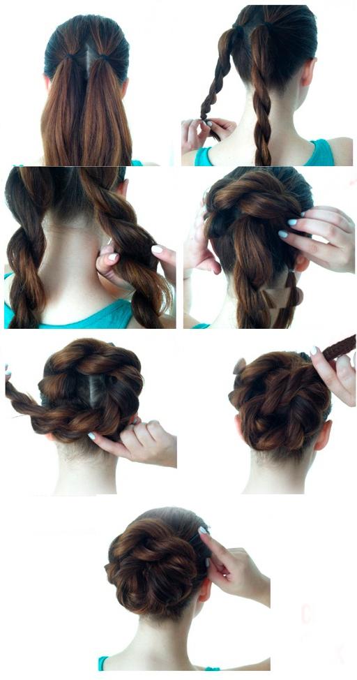 Прически своими руками на каждый день на длинные волосы видео 100